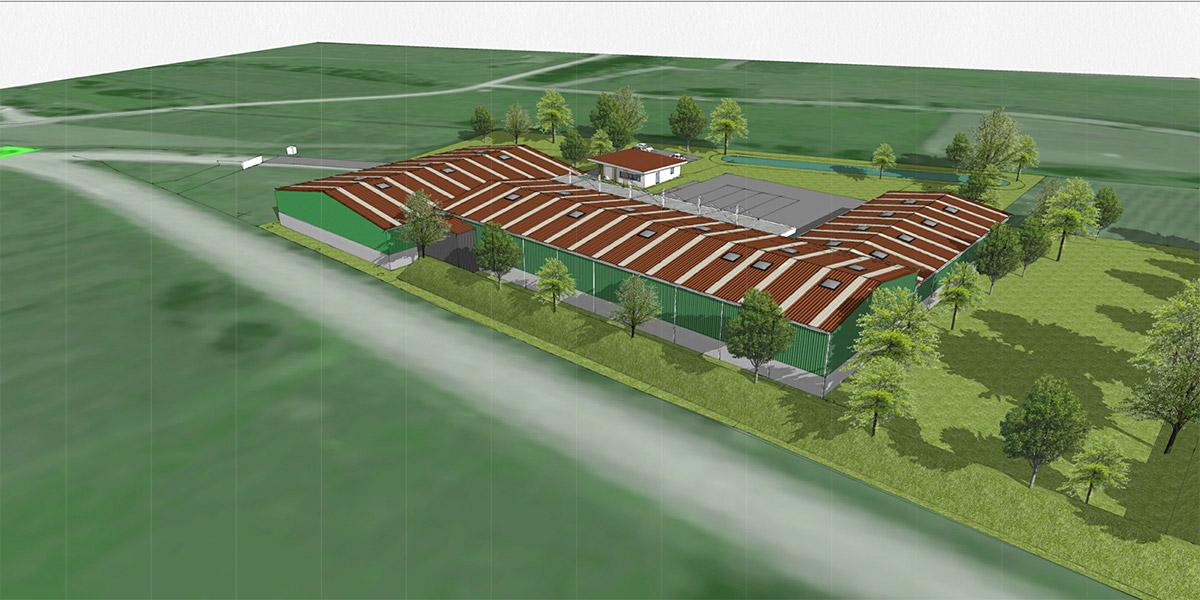 Vue aérienne du projet d'aménagement futur du site Ritleng.
